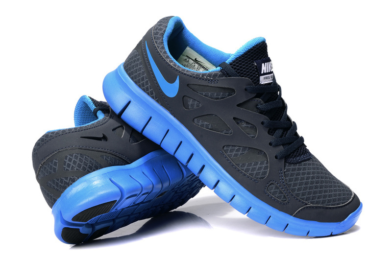 nike free run blue black